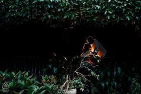 Da Lat, Vietnam pre-wedding photos   A glowing kiss amidst the trees