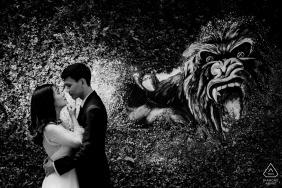 Ho Chi Minh city, Vietnam wedding photographer - engagement portrait with Protection