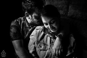 Engaged couple portrait session at Rudyard Lake, Staffordshire