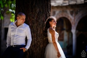 Troyan Monastery, Bulgaria | pre-wedding portrait session using The magic of light