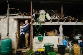 Gloucestershire | UK pre-wedding photos other couple at the farm barn