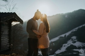 Engagement portraits in Höfnerhäuser, Austria | Sunset Photo session in the mountains