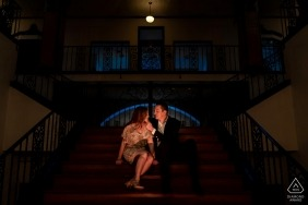 Santa Ana, California Arts building Engagement portrait session in the city