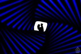 legion of honor optical illusion silhouette | California Engagement Photos