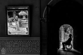 Villa Monica, San Miguel de Allende, Mexique Séance de mariage en noir et blanc