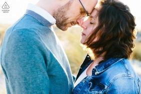 Hoek van Holland, Netherlands Pre-Wedding Engagement Photography - Golden hour portrait session