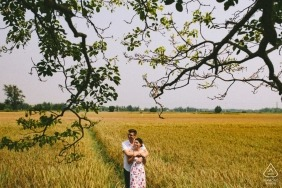 Hoi An Pre-Wedding Engagement Photography - Love in rice field