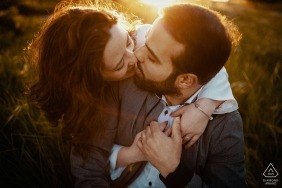 Acquamorta, Monte di Procida Engagement Shoot - Warm sunset in the end of April