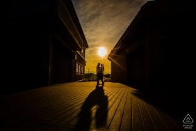 """Point Pleasant New Jersey Pre-Wedding Photographer: """"Last shot as they left. I saw it, stopped them and clicked."""""""