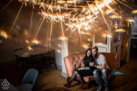 Minneapolis Couple at Glam Doll for engagement portrait session