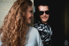 Ruse, Bulgaria engagement shoot - Love through the sunglasses