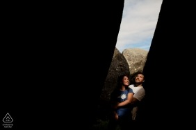 Peneda Geres National Park - Portugal 	Portrait of the couple on the light