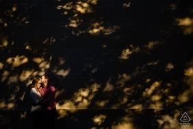 "Washington Square Park Philadelphia Wedding Photographer: ""I love light and shadow. This epitomizes that."""
