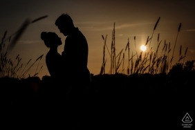 A sunset countryside engagement session in Bekesbourne, Kent UK