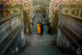 The Pergola, Hamstad Heath London Couple portrait at the pergola