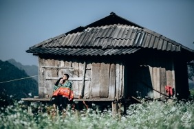This engagement picture was taken at moc chau