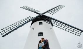 Lytham Windmill Museum Lancashire, UK engagement photo at windmill