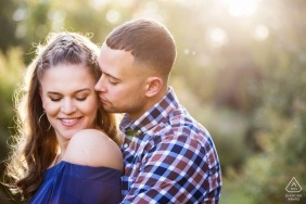Frenchtown, New Jersey Engagement Session in the afternoon sunlight