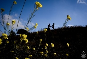 Mazarron Pre Wedding Session with Flowers and sky
