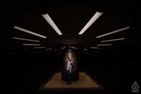 Niemcy Portret zaręczynowy - dworzec główny we Frankfurcie