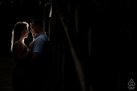 Naples Florida Engagement Photo Shoot at Night under a Light