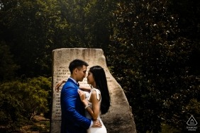 Virginia Brookside Gardens Pre-Wedding Portrait Session