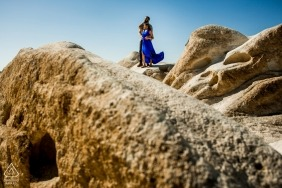 Engagement session with an American couple at Cappadocia