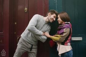 Brick Lane, London England Engagement Shoot - Couple in London's Brick Lane
