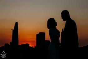 Ho Chi Minh City Pre Wedding Portraits - One kiss as the sun sets