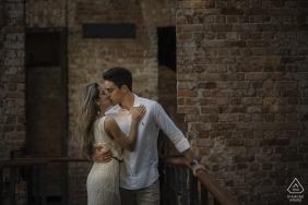 parque das ruínas, rio de janeiro, brazil e-session with young engaged couple
