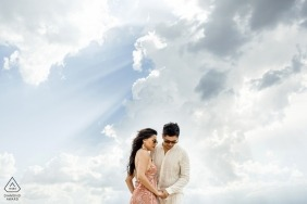 Turkey engagement photo pre wedding session with striking clouds