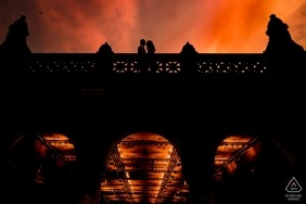 Bethesda Terrace in Central Park | Sunset Engagement Photo Session at Central Park
