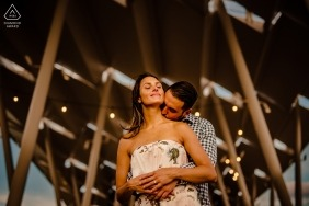 Gantry Plaza State Park Engagement Photos | Couple's portrait in Long Island City