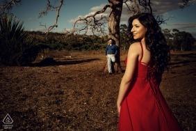 Brésil - Portraits de Caraíba Pré-mariage avec un couple de fiancés.