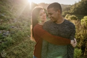 Engagement Photos from Sao Pedro da Serra - Portrait contains: couple, embrace, outdoors, lifestyle, smile