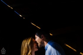 Engagement Photographer for Valencia - Image contains: couple, portrait, light, engaged