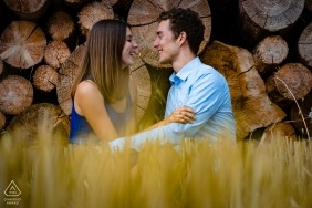Engagement Photographer for Altwarmbüchen Hannover | The moment that the couple forgot that we were there and started laughing at a private joke