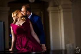 Bucharest Engagement Photography at the historical building of Court of Appeal