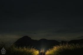 Niterói, Photographie de fiançailles à Rio de Janeiro: un pur amour de nuit