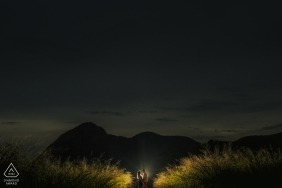 Niterói, Rio de Janeiro Engagement Photography: Pure love at night