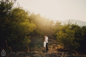 Cyprus engagement photography session outdoors in the warm sun