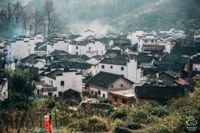 Wuyuan, Jiangxi, China Engagement photos taken in the most beautiful village.