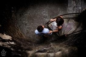 Dinefwr Castle engagement photo session - lead me - overhead couple portrait