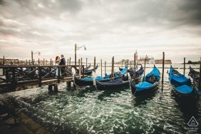Venice Pre-wedding photography sessions at the water in Italy