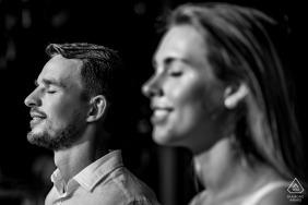 Resort Salinda Fiançailles et pré-portrait de mariage photographie en noir et blanc