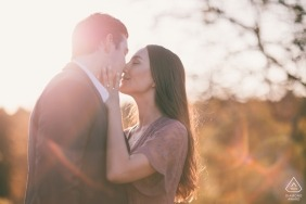 Wright Locke Farm | Winchester, MA - sweet sunset engagement portrait session