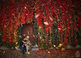 Prague, Czech Republic, near the Charles Bridge — Engaged couple during their gorgeous Autumn engagement session in Prague