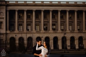 Philadelphia Art Museum Engagement Photographer: Using what I had. Buildings and people.