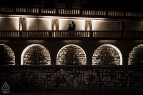 Biarritz, Frankreich Silhouette Portrait Session für Paare