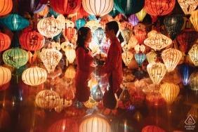 Hoi An, Vietnam Pre-Wedding Portrait Shoot with a Couple — Love In the lantern shop